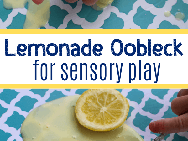 Lemonade Oobleck for Scented Sensory Play