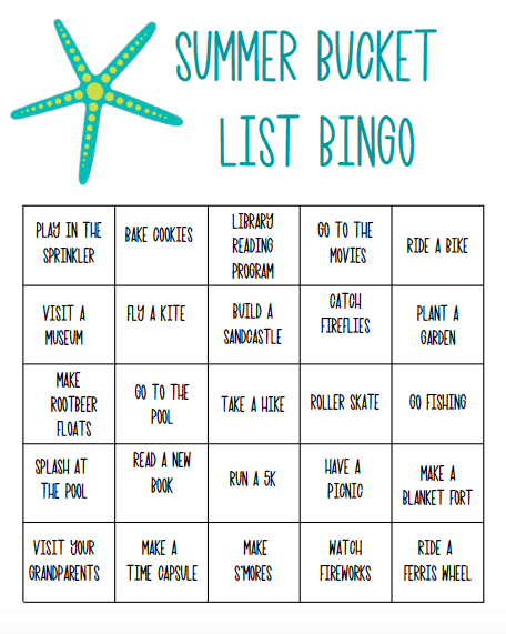 Summer Bucket List Bingo: Printable Game for Families - Views From ...