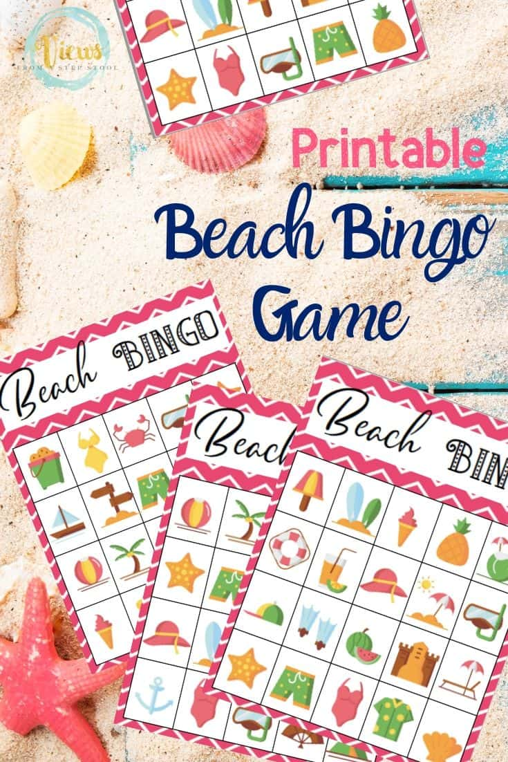 graphic regarding Printable Beach Pictures identified as Printable Seashore Bingo in the direction of Enjoy at the Beach front or at Property
