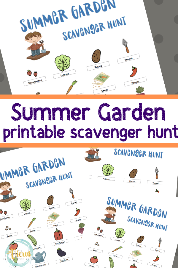 photograph about Printable Scavenger Hunt referred to as Printable Summertime Back garden Scavenger Hunt for Small children - Viewpoints Versus