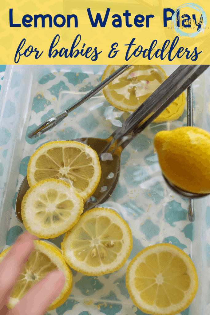 lemon water play for babies and toddler