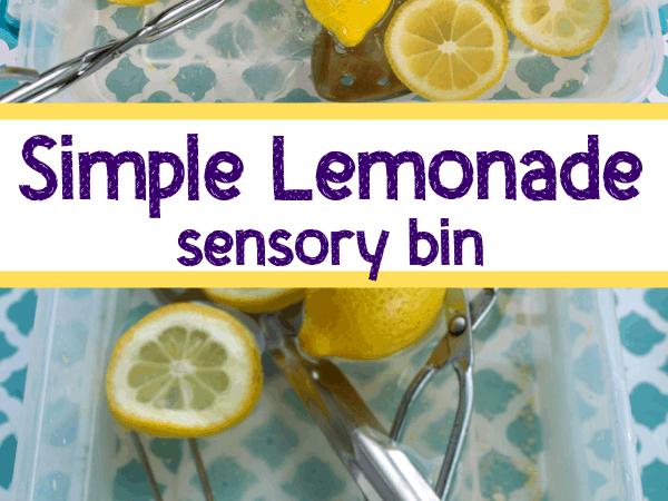 Lemonade Sensory Bin