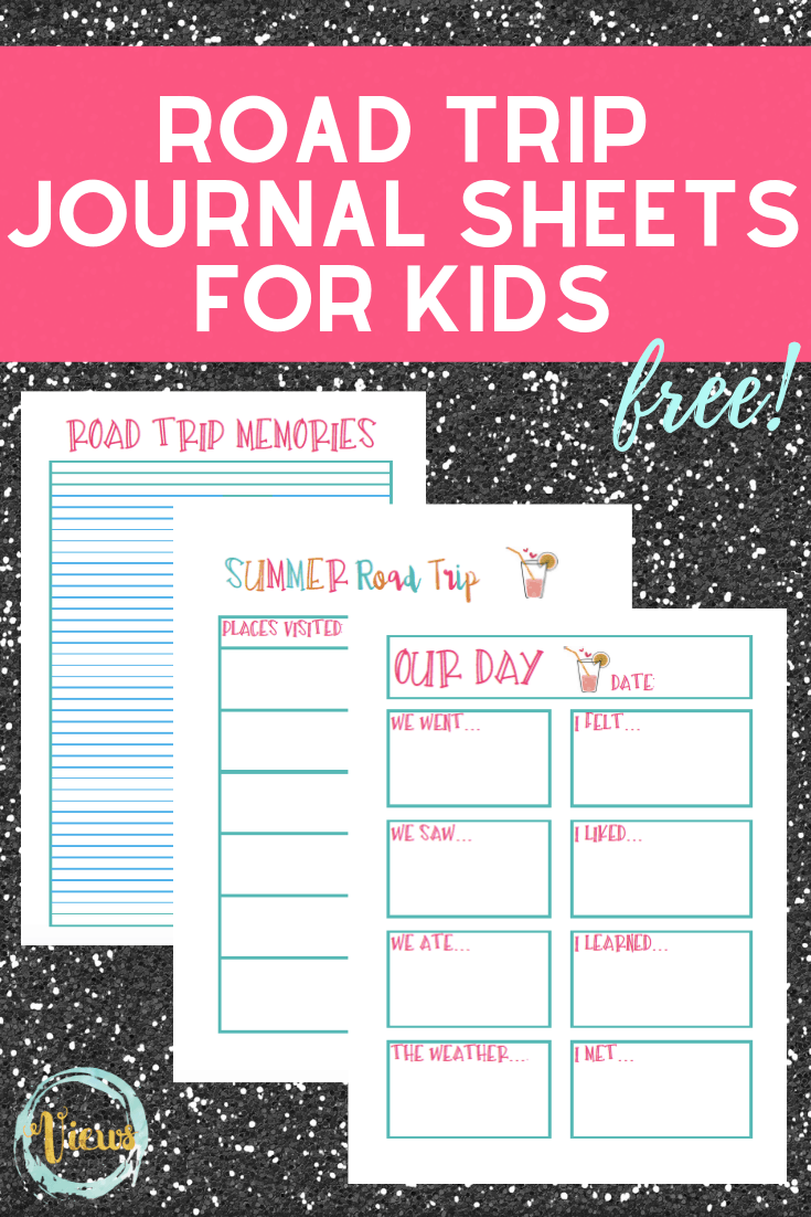 This road trip journal is perfect for any and all travel plans. Simply print off this FREE printable and let your children add in their thoughts! #roadtripjournal #printablesforkids #freebies #viewsfromastepstool #summervacation #roadtripwithkids #elementary #kidsactivities