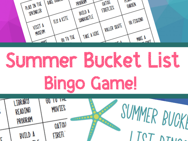 Summer Bucket List Bingo: Printable Game for Families