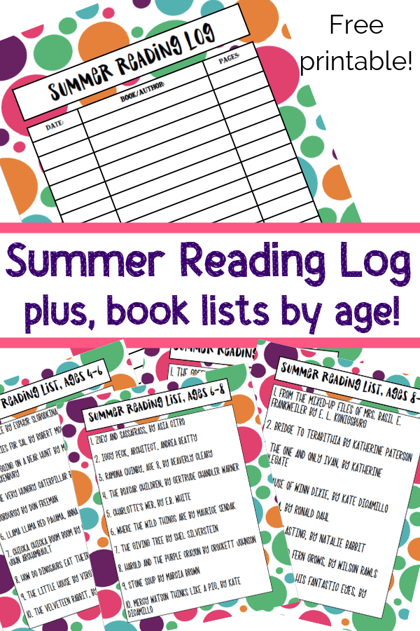 picture about Who Was Book Series Printable List referred to as Summer time Studying Lists for Young children Additionally Printable Log - Viewpoints