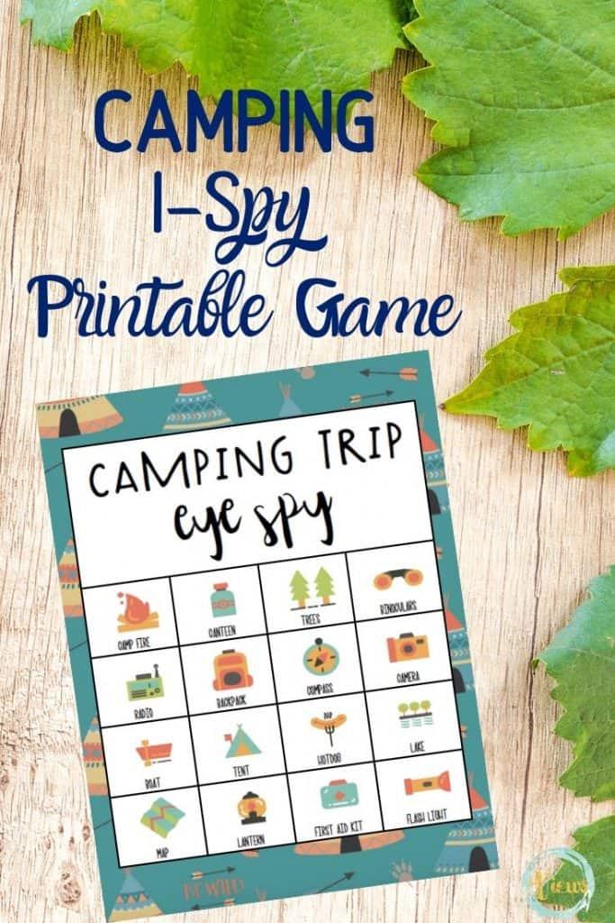 camping scavenger hunt printable for kids