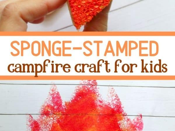 Sponge Stamped Camping Art for Kids: Campfire Craft