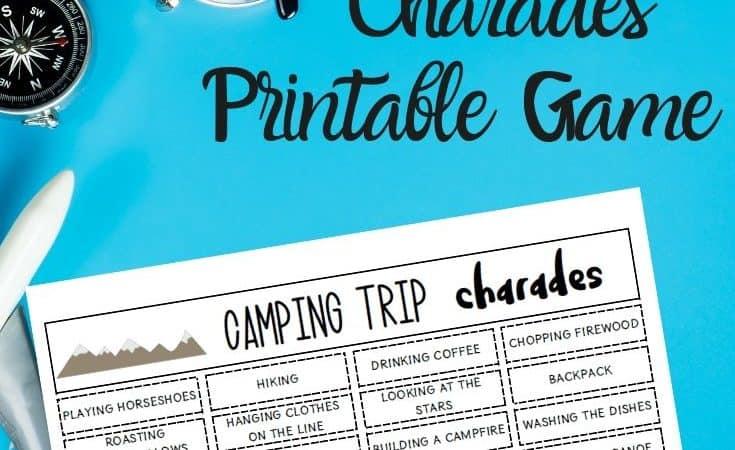 Camping Charades Printable Game