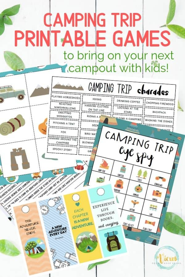 Printable Camping Games For Kids Views From A Step Stool
