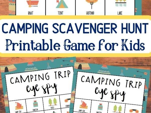 Camping Scavenger Hunt Printable Game