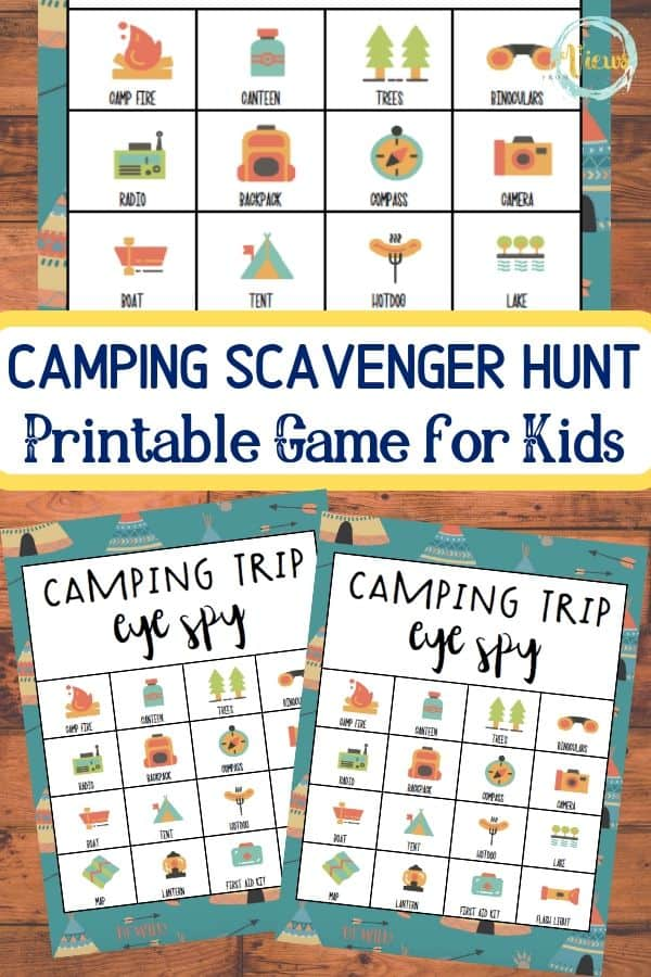 photograph regarding Camping Scavenger Hunt Printable identified as Tenting Scavenger Hunt Printable Match - Opinions Against a Stage Stool