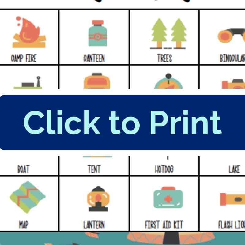 photograph relating to Camping Scavenger Hunt Printable named Tenting Scavenger Hunt Printable Recreation - Thoughts Towards a Move Stool