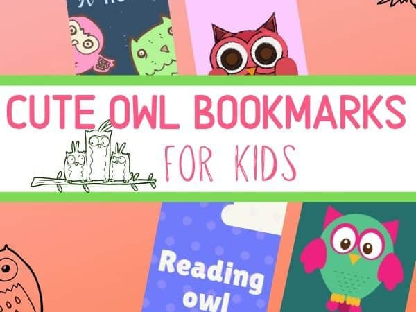 Cute Printable Owl Bookmarks for Kids