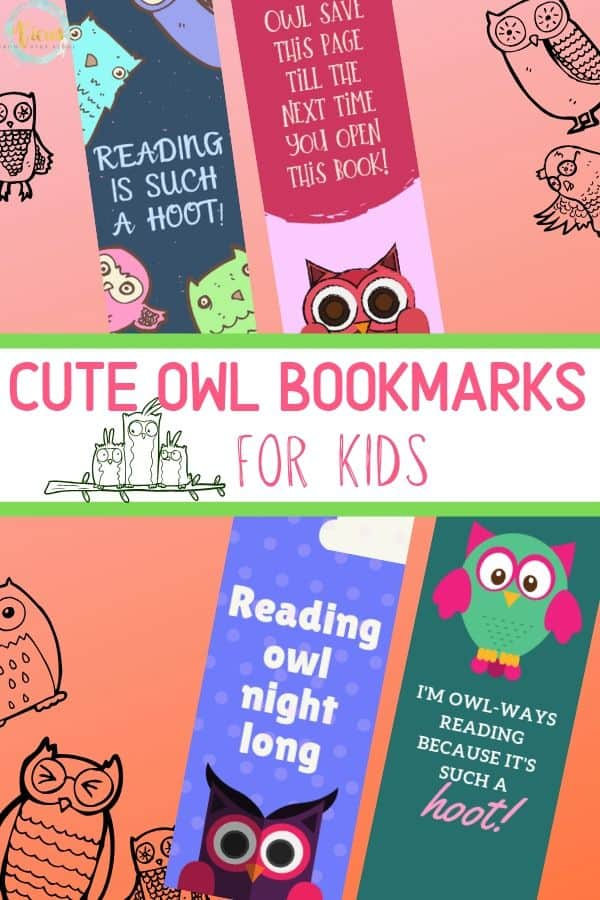 owl bookmarks for kids