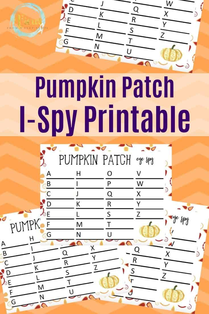 Printable Pumpkin Patch I Spy Game