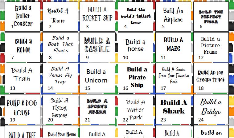 30 Day Lego Challenge for Kids + Printable Calendar