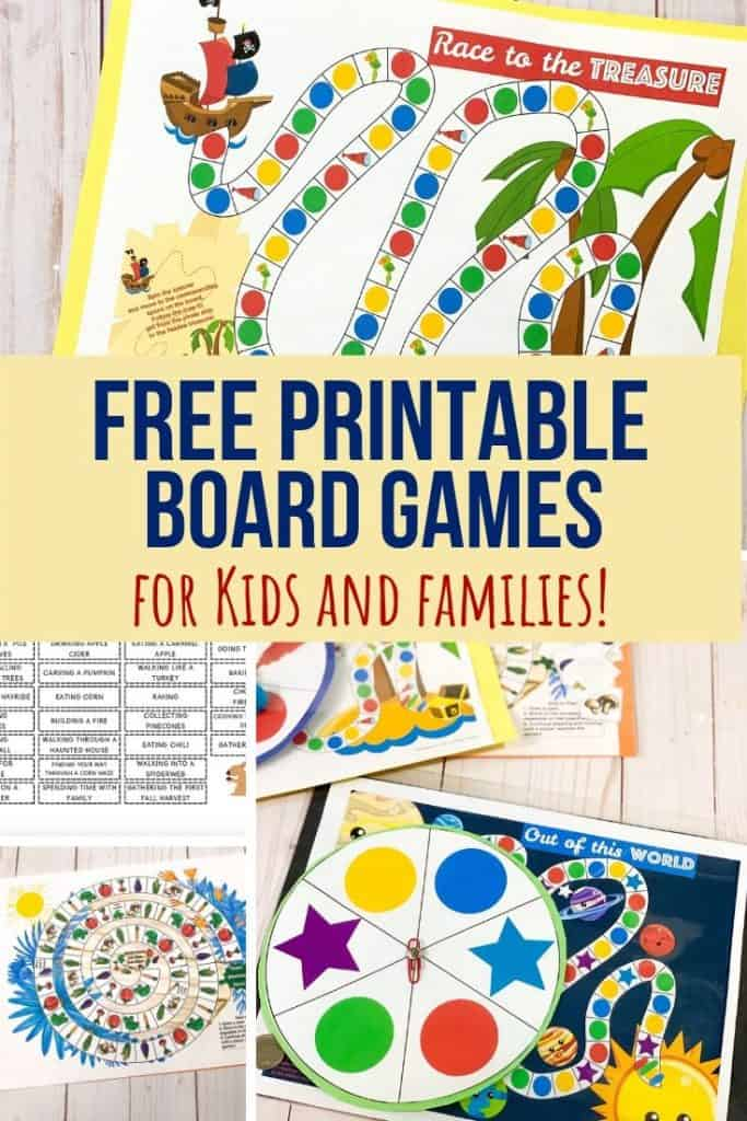 Free Printable Board Games for Kids - Views From a Step Stool