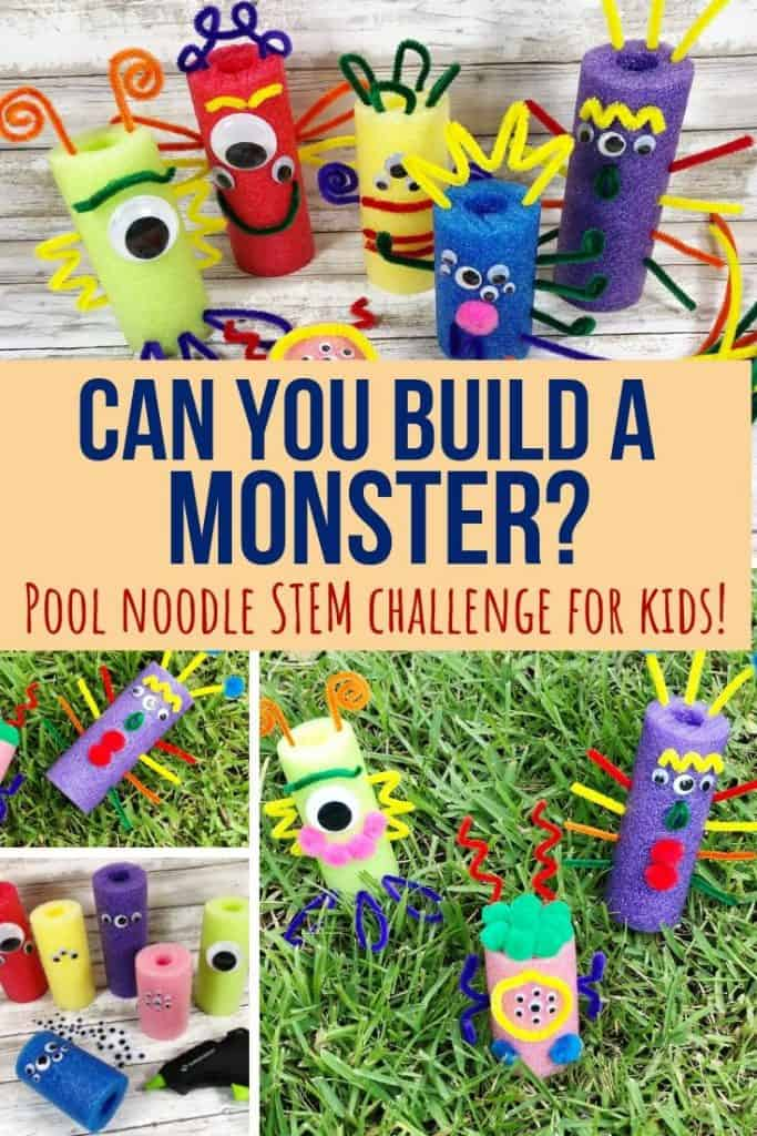 build a monster stem challenge from pool noodles