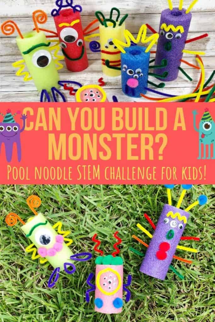 monster stem challenge for kids