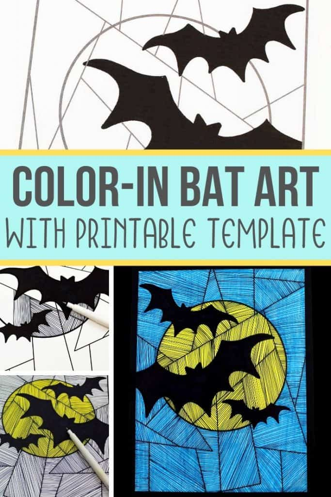 Line Art Paper Bat Craft For Kids Views From A Step Stool