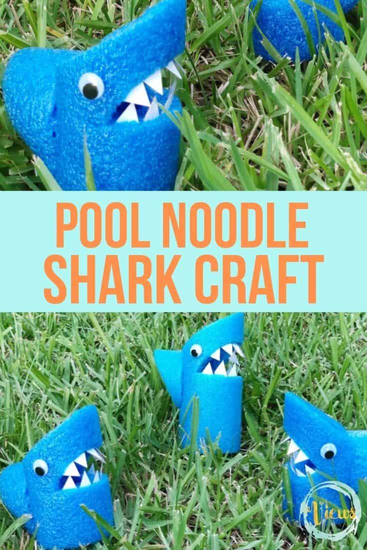 Pool Noodle Shark Craft for Kids
