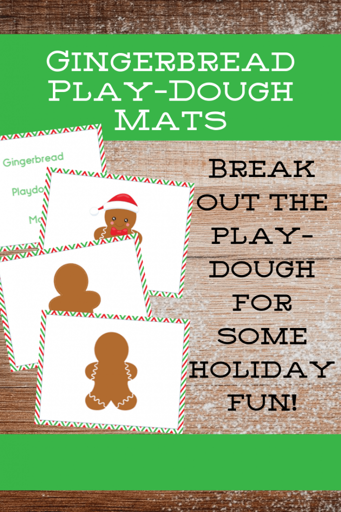 gingerbread playdough mat to print for sensory play
