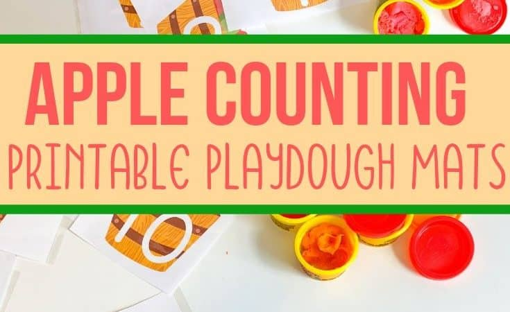 Apple Playdough Mats: Numbers 1-10 Free Printable