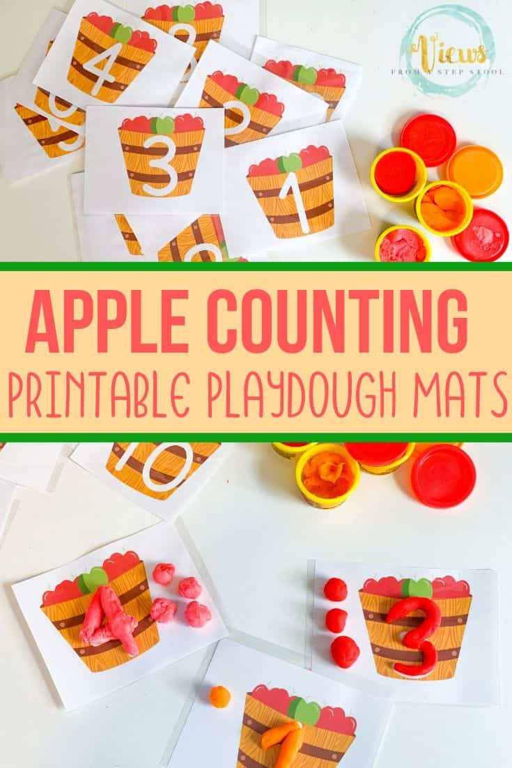 photo relating to Free Printable Playdough Mats titled Apple Playdough Mats: Quantities 1-10 Cost-free Printable - Thoughts