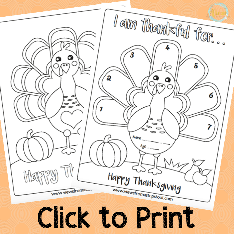 This is a photo of I Am Thankful for Printable with kindergarten