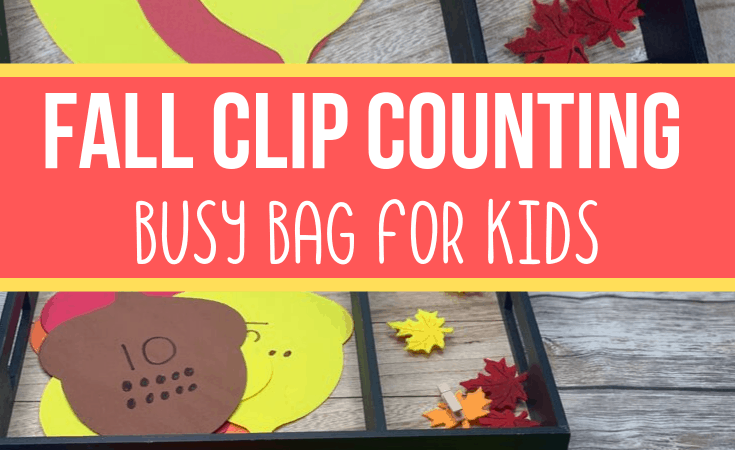 Fall Clip Counting Busy Bag