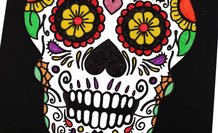 Day of the Dead Craft + Printable Template