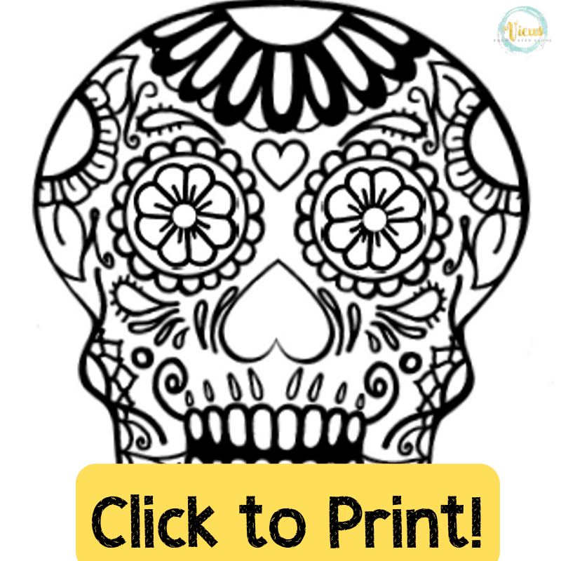 It's just a graphic of Astounding Day of the Dead Skull Template Printable