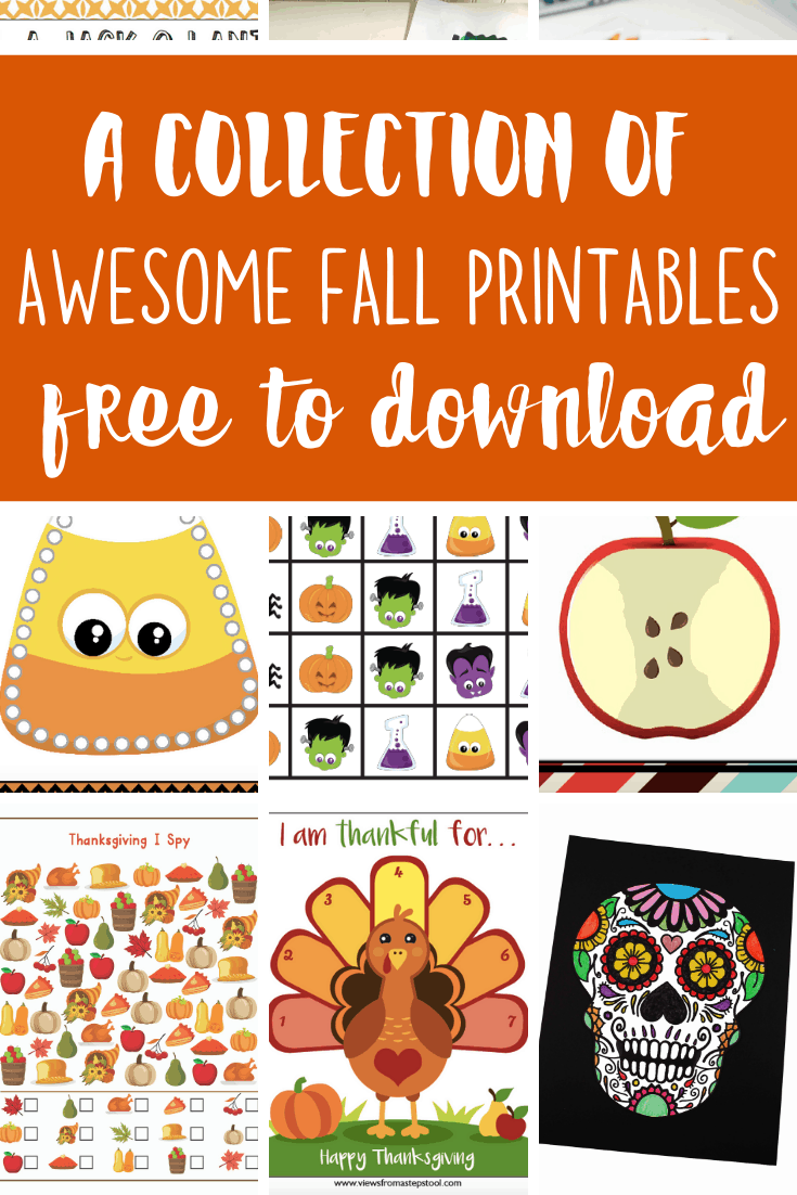 Surprising Fall Printables For Kids Views From A Step Stool Machost Co Dining Chair Design Ideas Machostcouk