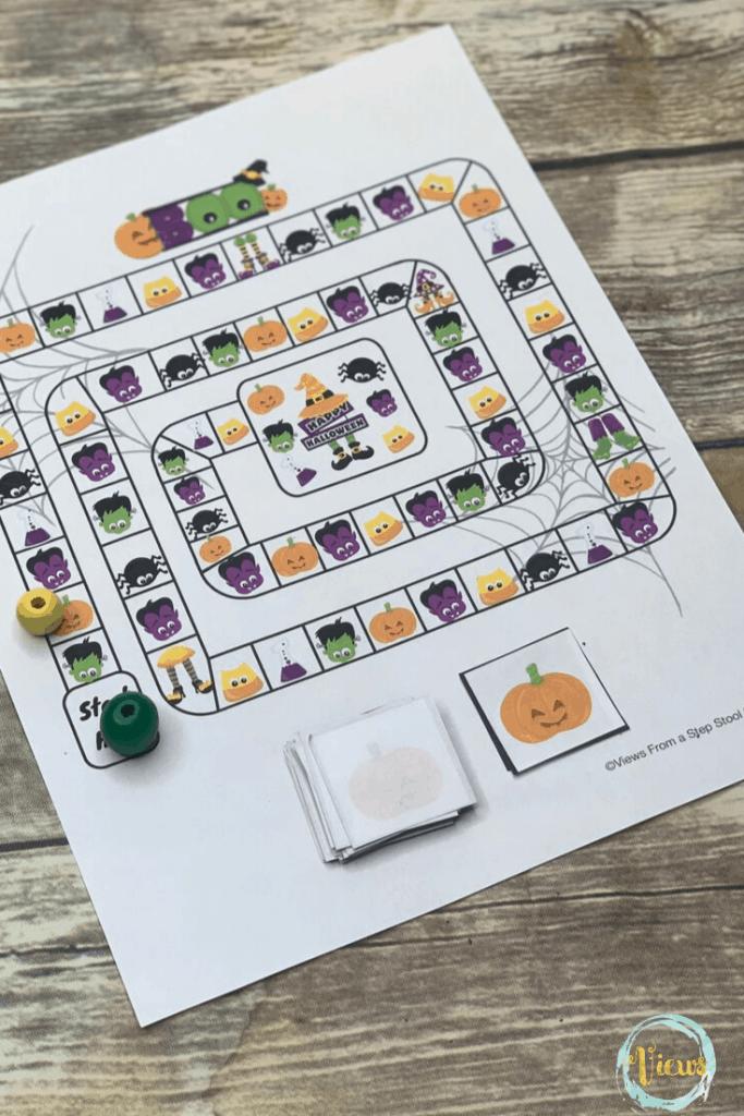 A fun free printable Halloween board game that kids will ...