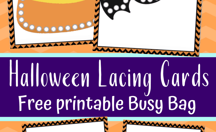 Free Printable Halloween Lacing Cards