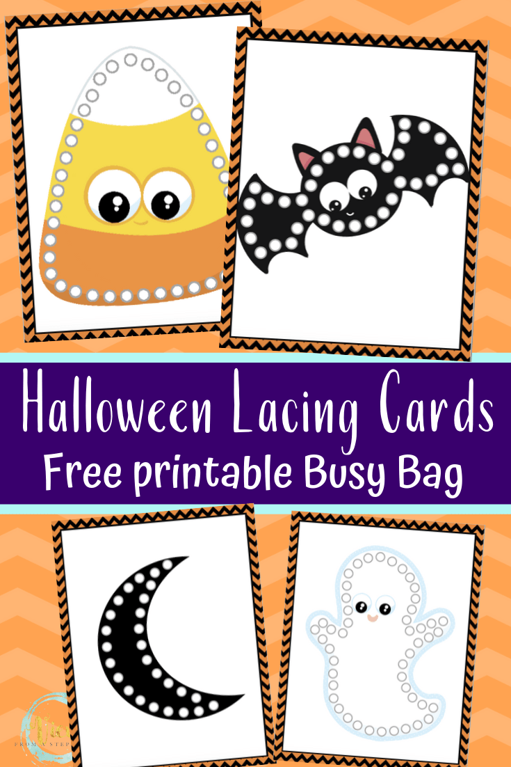 Free Printable Halloween Lacing Cards Views From A Step Stool
