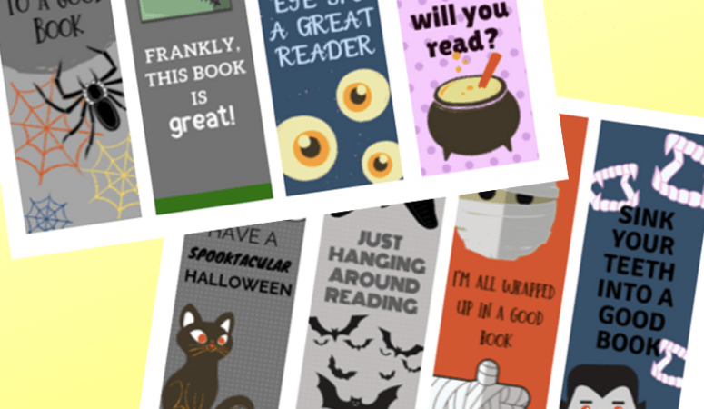 Halloween Printable Bookmarks for Kids