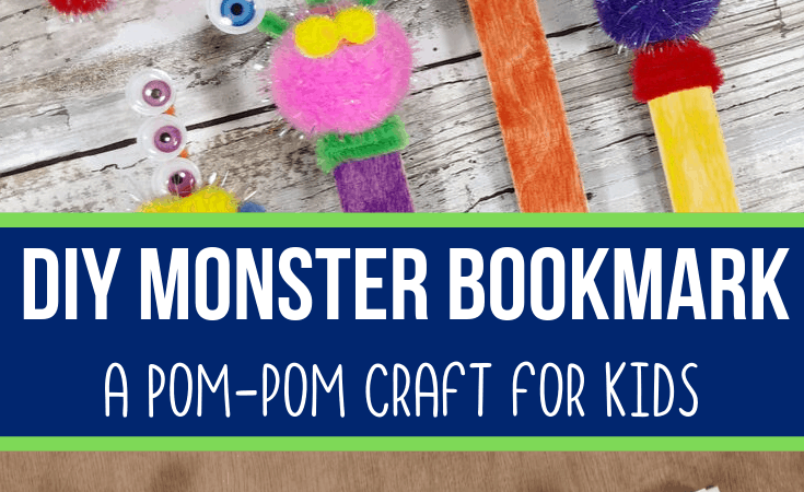 Monster DIY Bookmark Craft for Kids