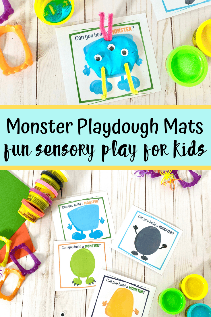 Build a Monster Playdough Mats to Print