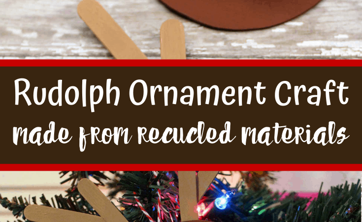 Paper Rudolph Ornament Craft from Recycled Materials