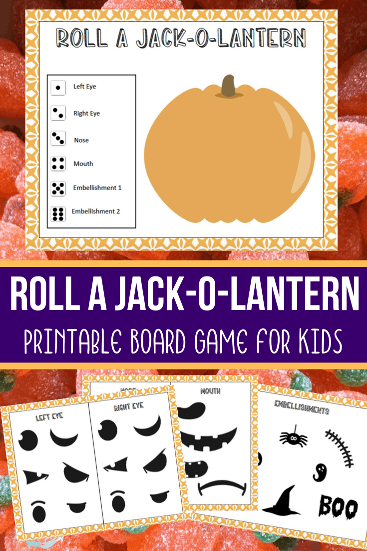 Roll a Jack O Lantern Printable Game