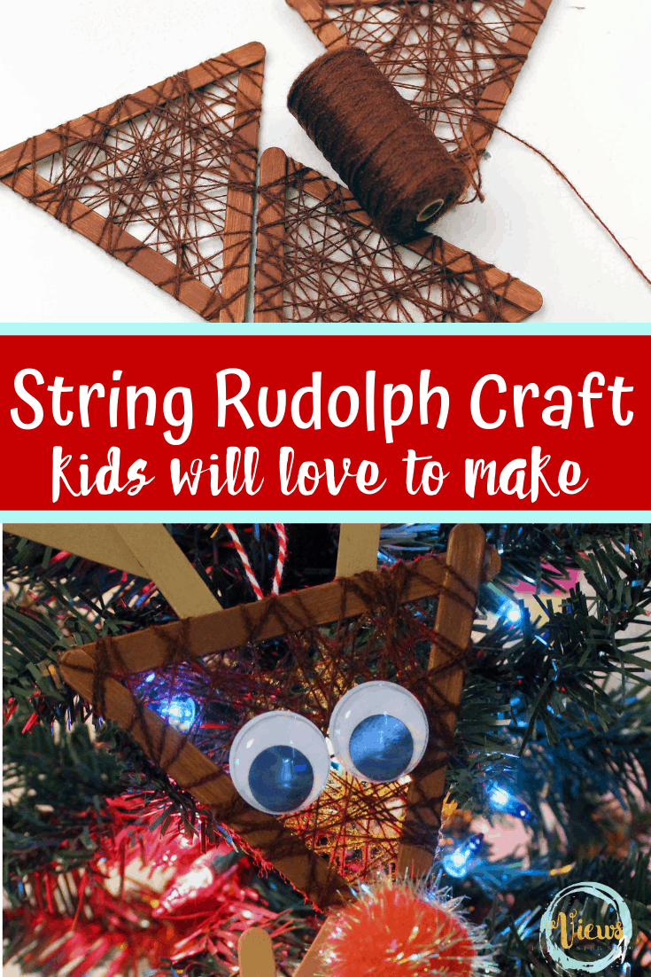 String Rudolph Ornament Craft for Kids