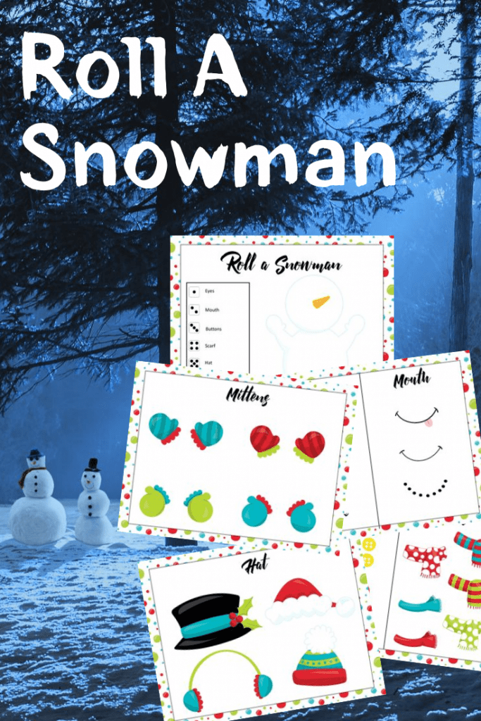 snowman game for kids roll a snowman text