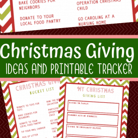 Christmas Giving Activities: Printable Bucket List and Tracker
