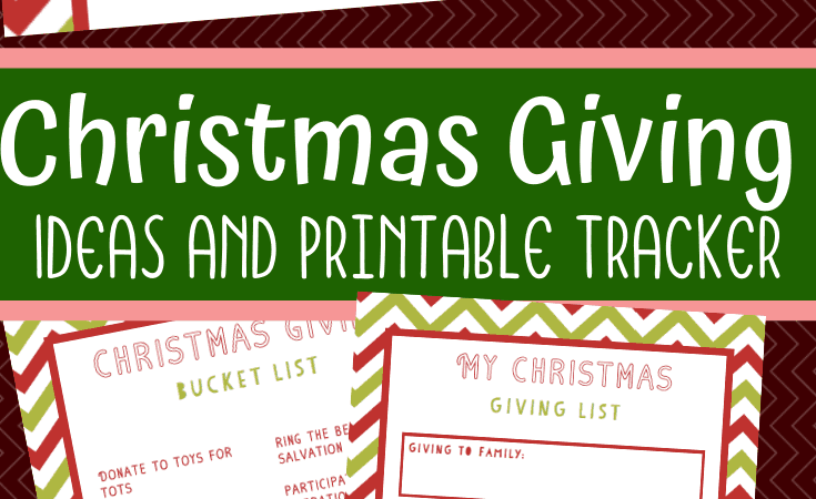 Christmas Giving Activities: Printable Bucket List and Tracker