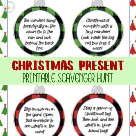 Christmas Present Scavenger Hunt Printable Cards