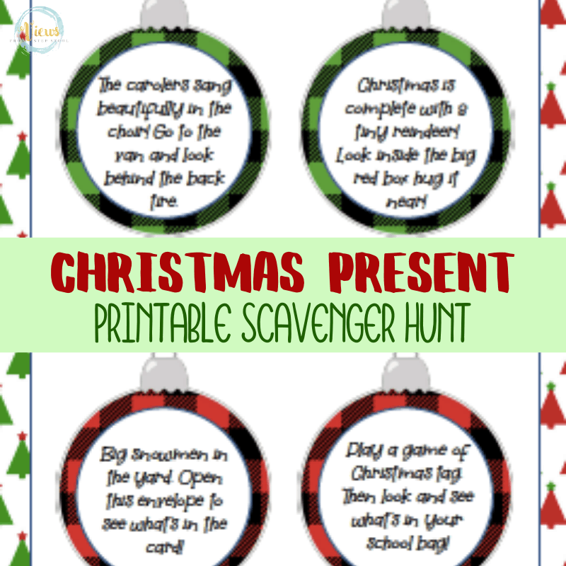 Christmas Present Scavenger Hunt Printable Cards