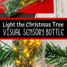 Light the Christmas Tree Sensory Bottle