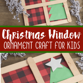Christmas Window Ornament Craft for Toddlers and Preschoolers
