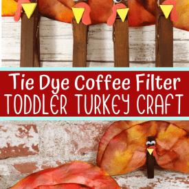 Coffee Filter Turkey Craft for Kids